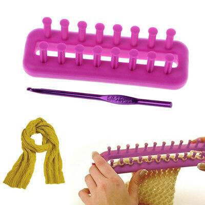 Rectangle Wool Knitting Loom Kit Sock Scarf Hat Sweaters Maker Craft Kit