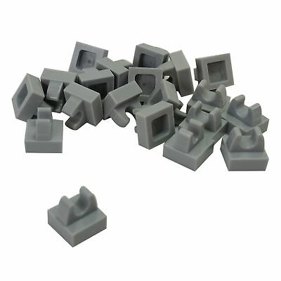 x20 New LEGO Tile Modified 1x1 with Clip Rounded Edges 15712 Dark Bluish Gray
