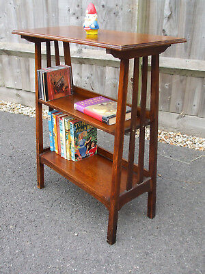 Antique oak bookcase / book table,  Arts & Crafts period, very attractive design