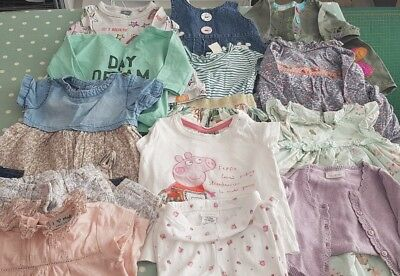 NEXT 3-6 months baby girls job Lot bundle 13 items of clothing peppa pig