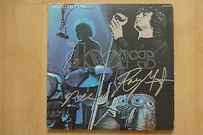 """The Doors Band Autogramme signed LP-Cover """"Absolutely Live"""" Vinyl"""