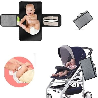 New Baby Portable Folding Diaper Travel Changing Pad Waterproof Mat Bag Storage