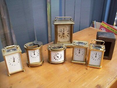 6 Mixed Pre 1900 Post 1900 Carrige Clock All Working