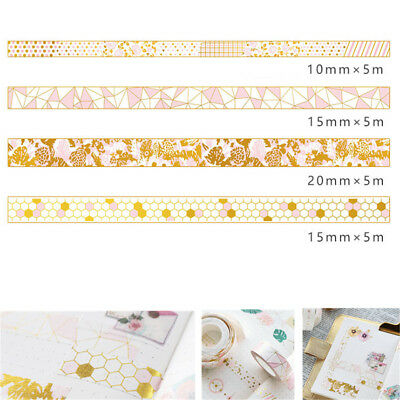 Pink Foil Paper Washi Tape Stationery Bullet Journal DIY Tape Diary Decor 5M