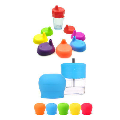Toddlers Babies Silicone Sippy Lids For Any Cup Spill Proof Reusable Portable