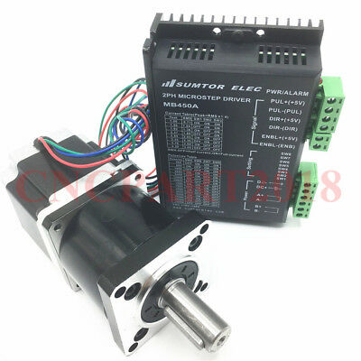 10:1 Planetary Nema 23 Gear Ratio Stepper Motor Geared 3A 18Nm & matched Driver