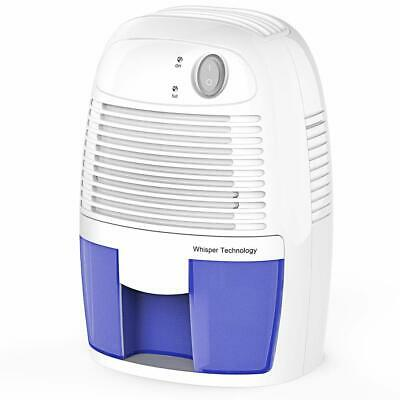 Garage Bedroom Basement Auto Shut Off Blue Moisture in Home Mold Kitchen 1byone Electric Mini Dehumidifier Compact and Portable for Damp Air Office Caravan