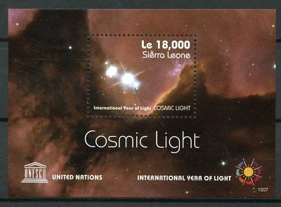 Sierra Leone 2015 MNH UNESCO Int Year of Light Cosmic Light 1v SS Science Stamps