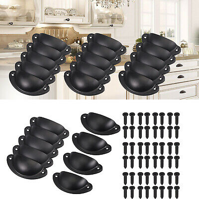 24X Cupboard Door Cabinet Cup Drawer Kitchen Furniture Antique Pull Shell Handle