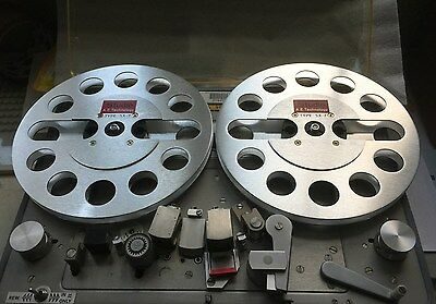 "ONE PAIR   New  7"" Aluminum Anodized metal Reel to Reels   SILVER"