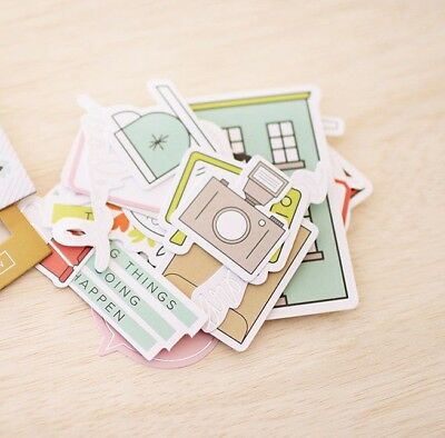 Project Life Becky Higgins - Die Cut Shapes X 40 - Includes Foil