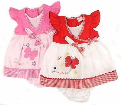 Baby Girls Summer Dress 6-12  12-18  18-24 Months Headband and Frilly Knickers