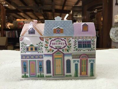 Vintage Collectible 1994 The Lenox Village Recipe Box With Cards