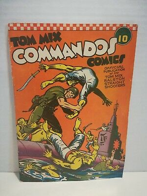Tom Mix Commandos #10 1942 Comic Book WWII Japanese Cover Golden Age