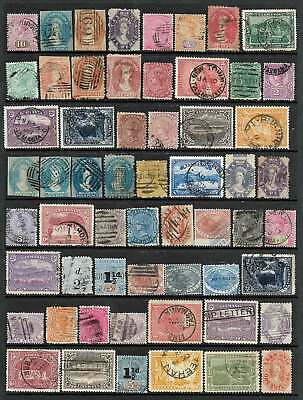 Tasmania: Quality Range 58 Old Stamps, Valuable Group Used & No Reserve