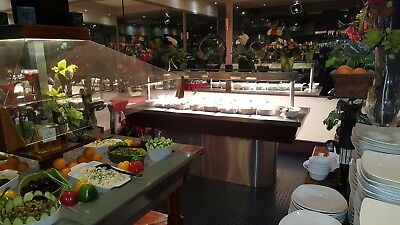 Restaurant / Hotel , Elegant Hot buffet servery. Stainless steel and led lights