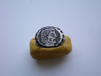 RARE Ancient-ROMAN LEGIONARY SILVER RING