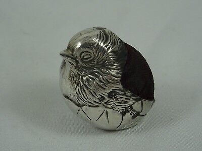 SOLID silver `CHICK`,  PIN CUSHION, 1912