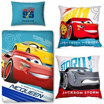New DISNEY CARS3 Bedding Duvet Quilt Cover Bed Set Toddler Cot Lightning McQueen