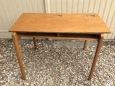 Mid century vintage unusual double school desk kitchen table work station