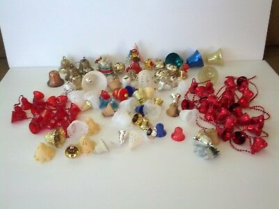 Large Lot Of Mostly Vintage Miniature Bell Ornaments Crafts