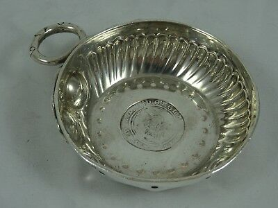 18th CENTURY style solid silver WINE TASTER, 1927, 111gm
