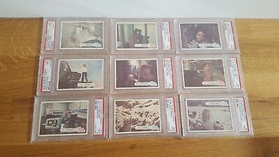 9 x Vintage Topps 1976 The Bionic Woman PSA Graded 9 Trading Cards