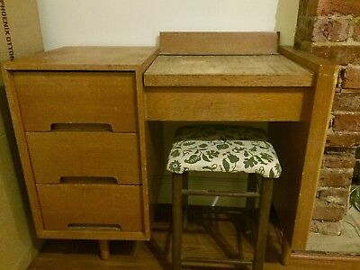 antique old school desk with stool