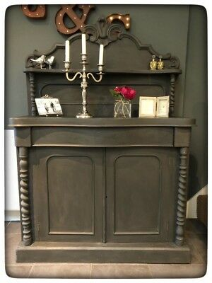 Lovely antique Shabby chic Victorian Annie Sloan painted Chiffonier/ Sideboard