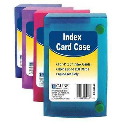 """Index Card Case,4 x 6"""",Assorted,PK2 C-LINE PRODUCTS 58446BNDL2PK"""
