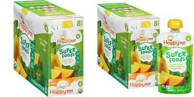 Happy Tot Organics Super Foods Pears, Mangos & Spinach + Chia Stage 4 Baby...