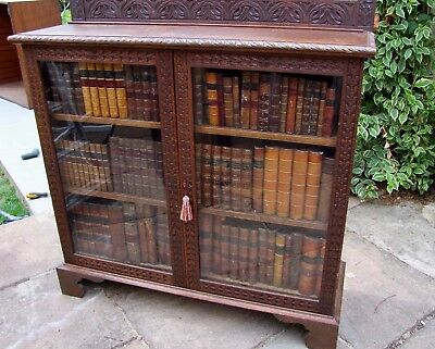 19Th Century Carved Oak Bookcase