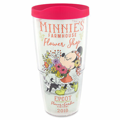 Disney Parks 2018 Epcot Flower & Garden Minnie Tervis Tumbler 24 oz NEW