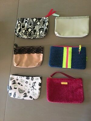 New Unused Assorted Lot Of 6 Ipsy Cosmetic Makeup Bags