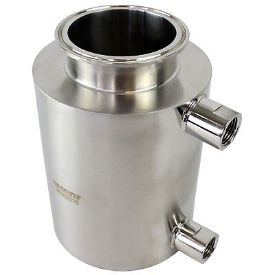 "BVV 3"" Tri-Clamp x 6"" Fully Jacketed Container"