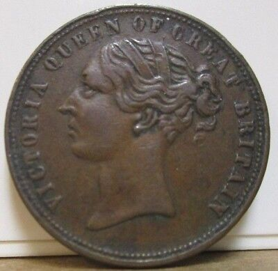 ND c1800s - UF-6000 - Unofficial Farthing - Ireland - Dublin - Drapers - Clover