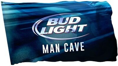 Budweiser Bud Light Beer Flag Banner 3 x 5 ft Man Cave Bar