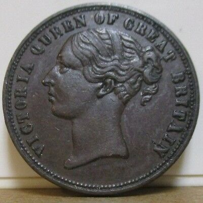 ND c1800s - UF-6000B - Unofficial Farthing - Ireland - Dublin - Drapers - Clover