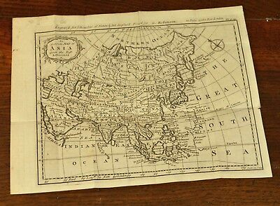 Antique Map of Asia by J. Gibson 1774 - China Japan India Russia