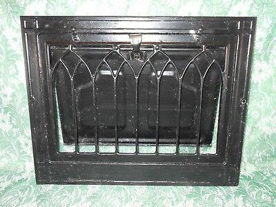 Vintage Metal Wall Register Heat Vent Grate - Gothic Arched Style