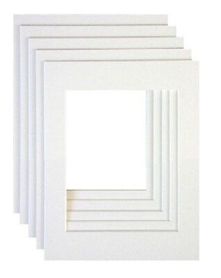 New White Color Bevel Cut Mounts For Picture Photo Frame Various Sizes And Packs