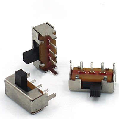 SPDT 1P2T 2 Position 3Pin Horizontal Slide Switch 4mm Shaft with Frame SK12F14G4