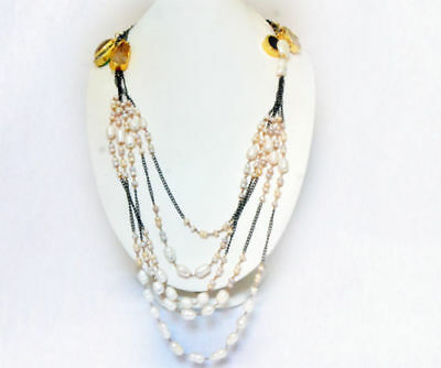 Artificial Stone Beautiful Necklace Vintage Gold Plated Fashion Women's Jewelry