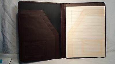 Millenium 3000FN Burgundy Leather Letter Sized Writing Pad