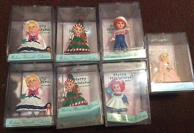Lot Of 7 Madame Alexander Hallmark Merry Miniatures Dolls