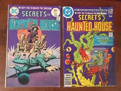 Lot Of 2 Secrets Of Haunted House 2 14 DC Comics 1975-78