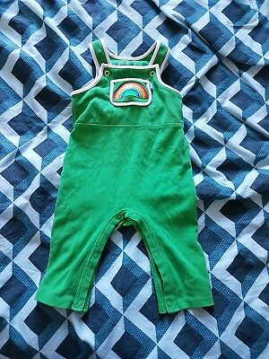Baby Little Bird By Jools Oliver Green Rainbow dungarees...3-6 months