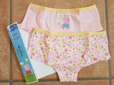Peppa Pig Briefs Girls Shorties Underwear 2 Pack Knickers T2TC428