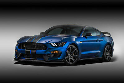 """FORD Mustang Shelby GT350 Sport car LARGE 41"""" x 29"""" HD POSTER PRINT"""