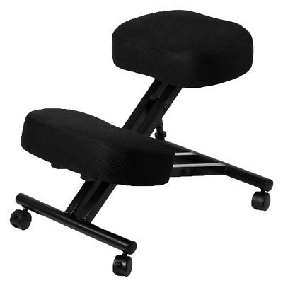Kneeling Chair Orthopaedic Stool Ergonomic Posture Office Frame Seat Black